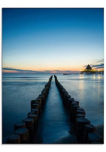 Artland Glasbild »Usedom am Morgen«, Gewässer, (1 St.) kaufen