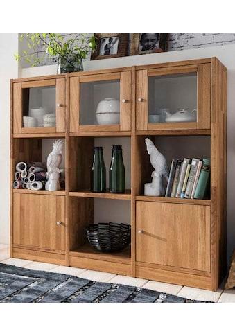 Premium collection by Home affaire Regalelement »Ecko«, aus schönem massivem Wildeichenholz, Breite 136 cm kaufen