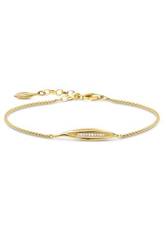 THOMAS SABO Armband »Blatt gold, A1935 - 414 - 14 - L19v« kaufen