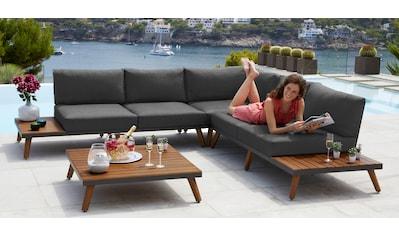 MERXX Loungeset »Athen«, 15 - tlg., Ecklounge, Tisch 95x95 cm, Akazie/Alu kaufen