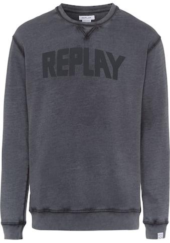 Replay Sweatshirt, washed-Optik kaufen
