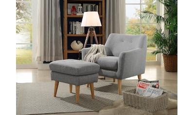 Home affaire Sessel »Mirko«, mit Knopfheftung im Rücken kaufen