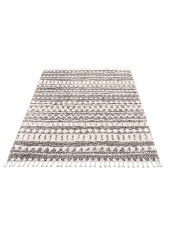 Hochflor - Teppich, »Pulpy 542«, Carpet City, rechteckig, Höhe 30 mm, maschinell gewebt kaufen