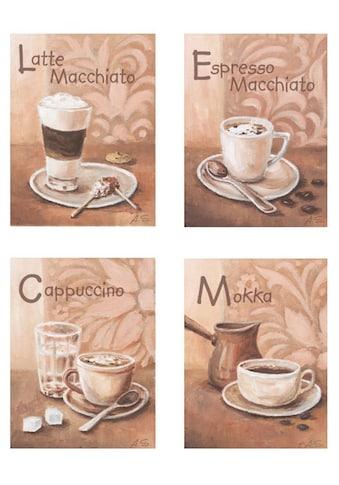 Home affaire Wandbild »Kaffeevariationen I« (Set) kaufen