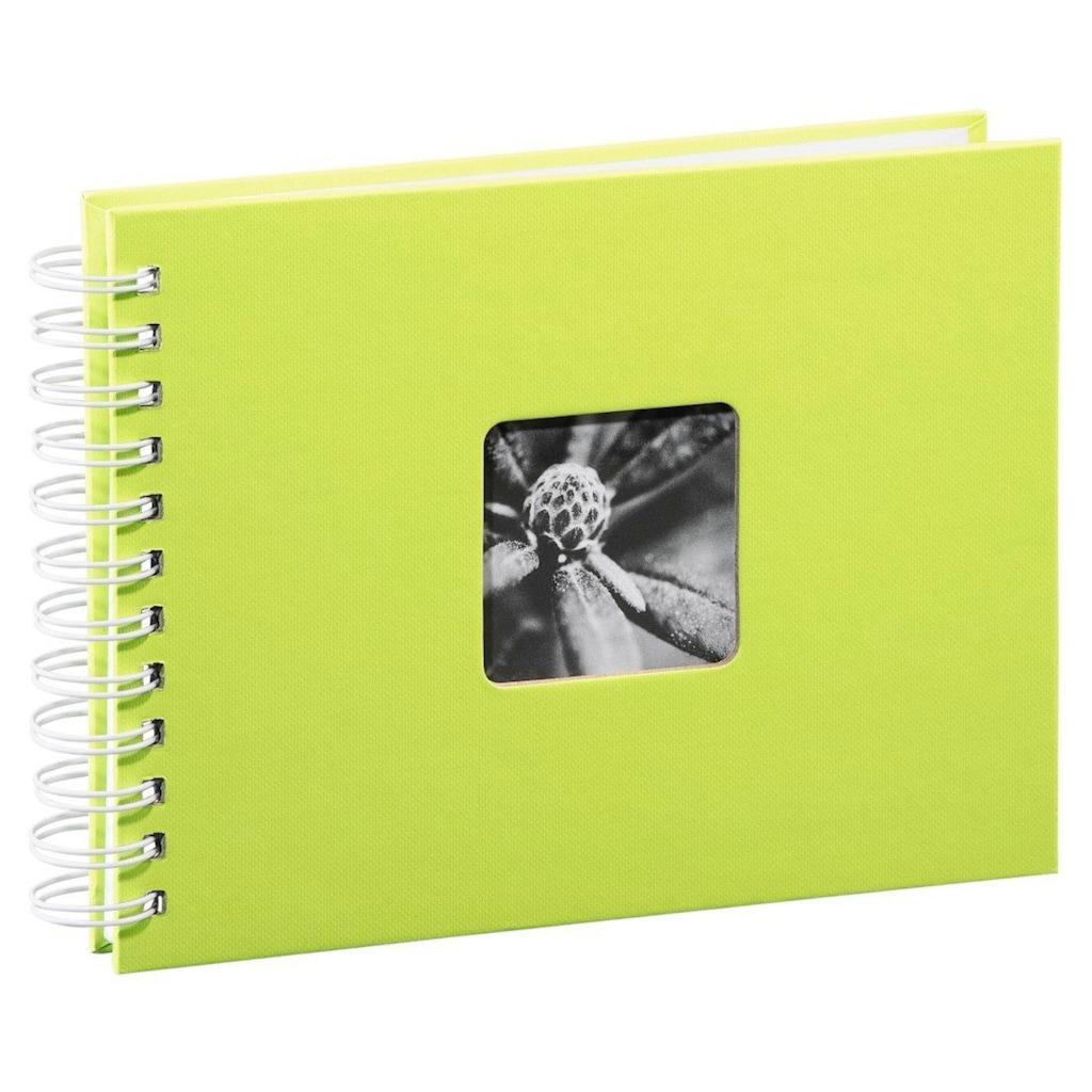 Hama Spiralalbum 24 x 17 cm, 50 weiße Seiten, Fotoalbum, kiwi