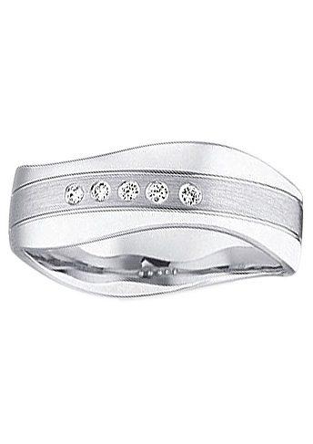 Firetti Trauring mit Gravur »7,0 mm, glanz, seidenmatt, Diamantschnitt, Wellenform« | Schmuck > Ringe > Ringe mit Gravur | Firetti
