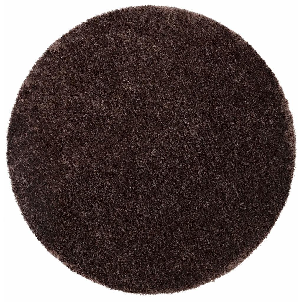 Hochflor-Teppich, »Dana«, Bruno Banani, rund, Höhe 30 mm, maschinell gewebt
