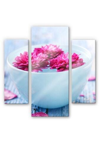 Wall-Art Mehrteilige Bilder »Badezimmer Wellness (3-teilig)«, (Set, 3 St.) kaufen