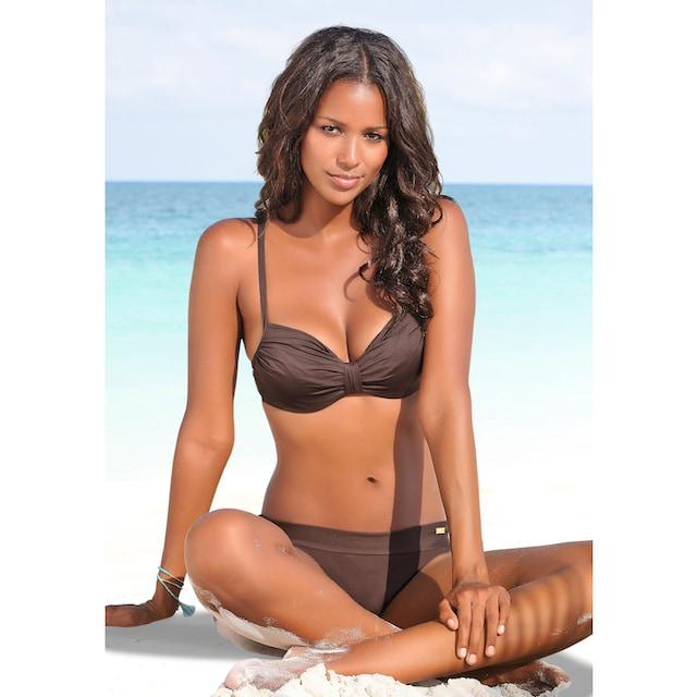 LASCANA Bügel-Bikini-Top »Italy«, mit geraffter Mitte
