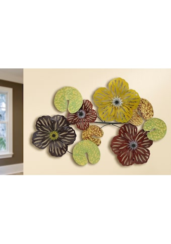 GILDE Wanddekoobjekt »Wandrelief Seerosen Combi« (1 Stück) kaufen