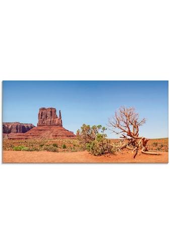 Artland Glasbild »Monument Valley West Mitten Butte«, Amerika, (1 St.) kaufen