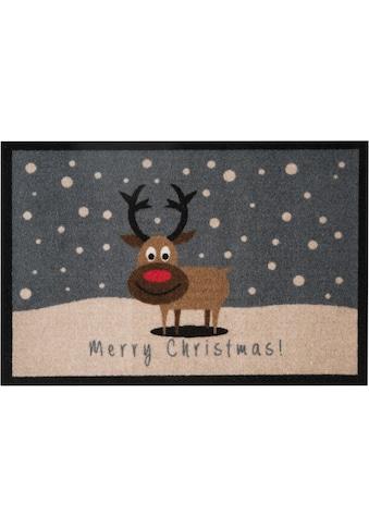 HANSE Home Fußmatte »ChristmasReindeer«, rechteckig, 7 mm Höhe, Schmutzfangmatte, mit... kaufen