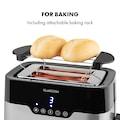 Klarstein Toaster 920W LED-Display Touch-Bedienfeld Edel
