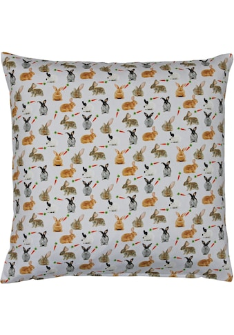 HOSSNER - HOMECOLLECTION Kissenhülle »32657 Rabbits«, (1 St.) kaufen