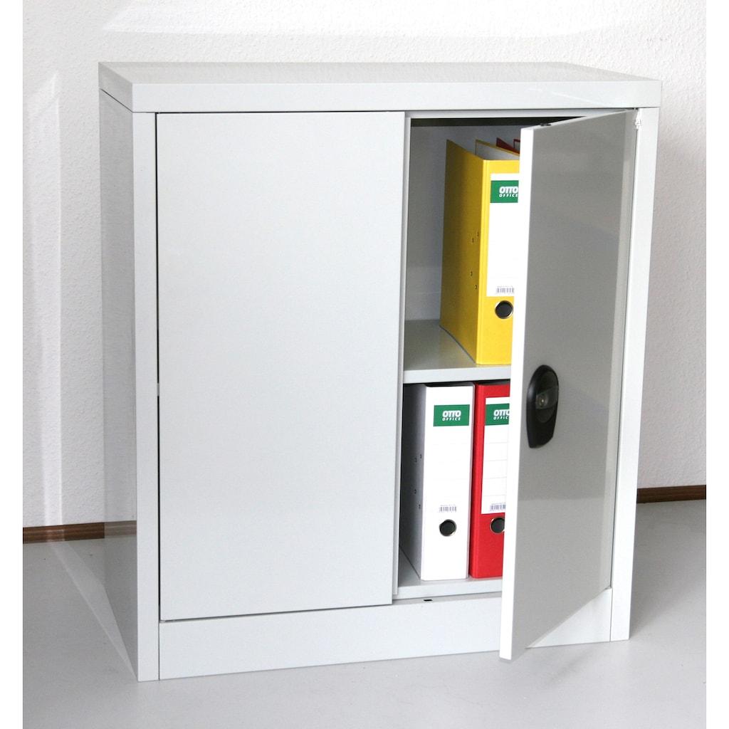 SZ METALL Mehrzweckschrank »RAL7035«, BxTxH: 90x40x90 cm, abschließbar inkl. 2 Schlüssel