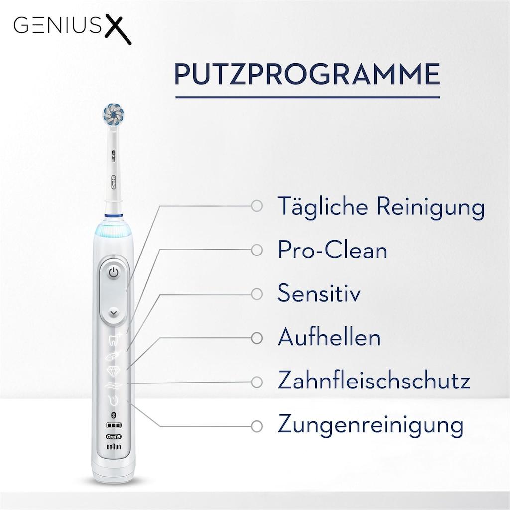 Oral B Elektrische Zahnbürste »Genius X 20000N«, 1 St. Aufsteckbürsten