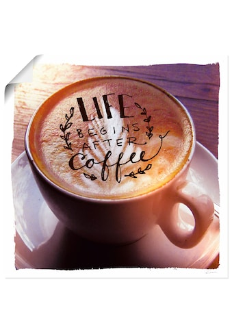 Artland Wandbild »Das Leben beginnt nach dem Kaffee«, Getränke, (1 St.), in vielen... kaufen