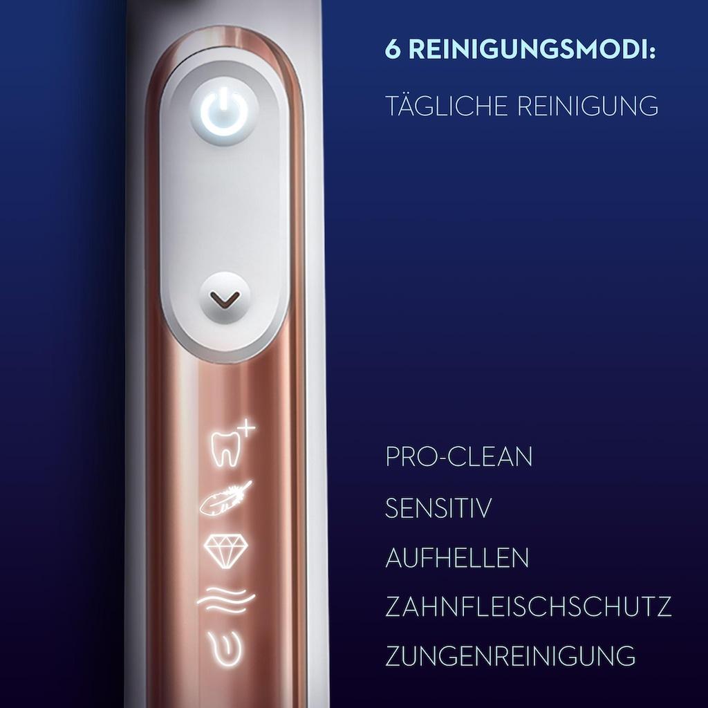 Oral B Elektrische Zahnbürste »Genius X 20000 Luxe Edition«, 4 St. Aufsteckbürsten, roségoldfarben