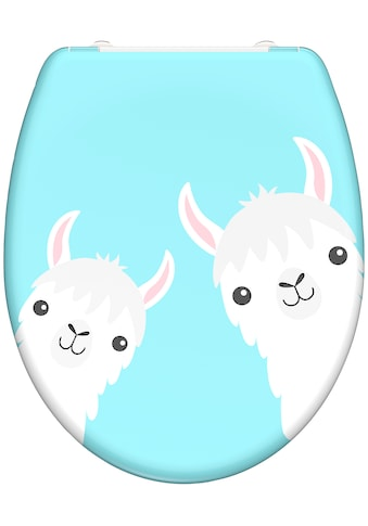welltime WC-Sitz »Lama«, hochwertiger abnehmbarer Premium-Toilettendeckel mit... kaufen