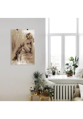 Artland Wandbild »High heels im Licht«, Frau, (1 St.), in vielen Größen & Produktarten - Alubild / Outdoorbild für den Außenbereich, Leinwandbild, Poster, Wandaufkleber / Wandtattoo auch für Badezimmer geeignet kaufen