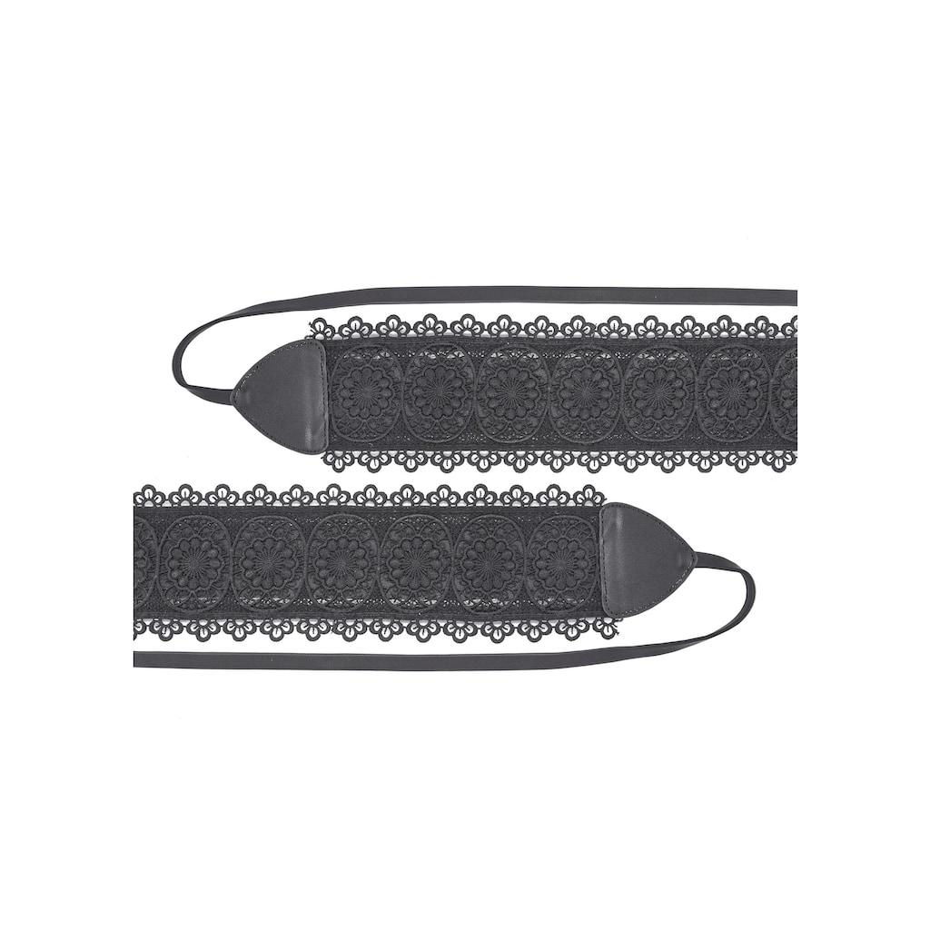 LASCANA Taillengürtel, zum Binden und mit modischer Stickerei