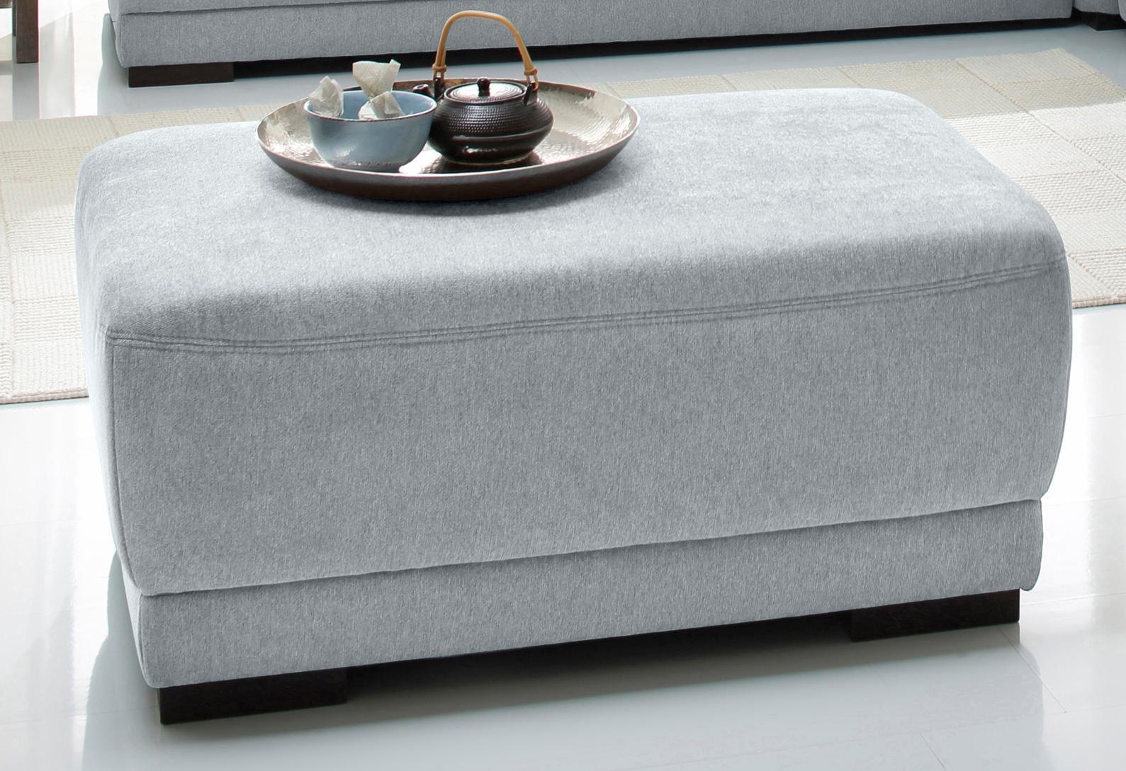 Home affaire Schemel »Falk«, mit Strukturstoff oder Luxus-Microfaser in Lederoptik, silber