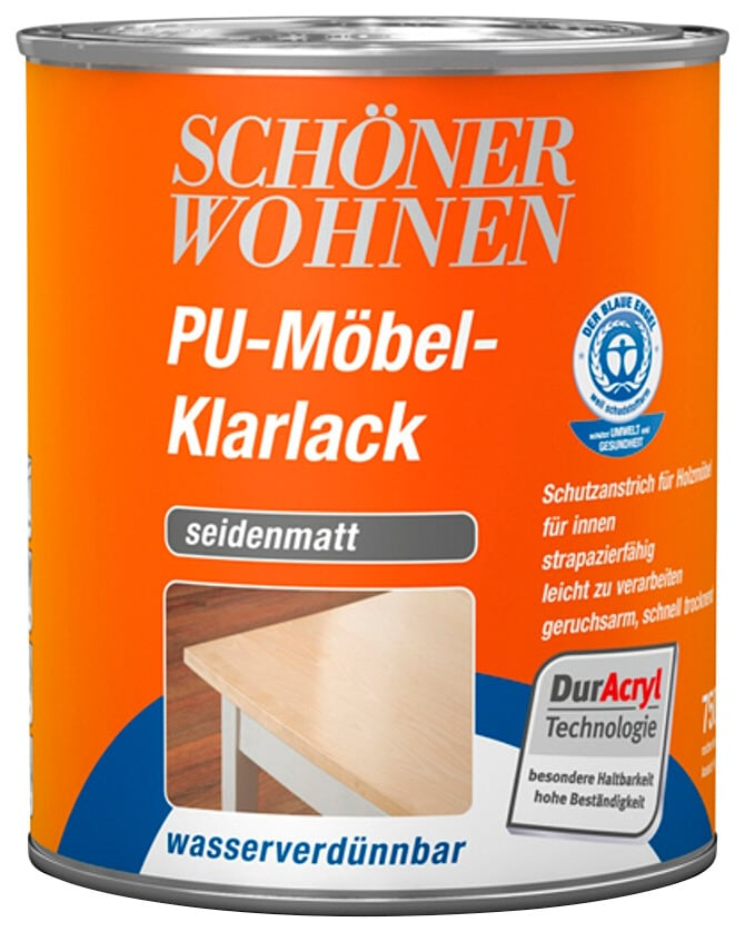 Schöner Wohnen Farbe Klarlack Pu Möbel Klarlack Seidenmatt 750