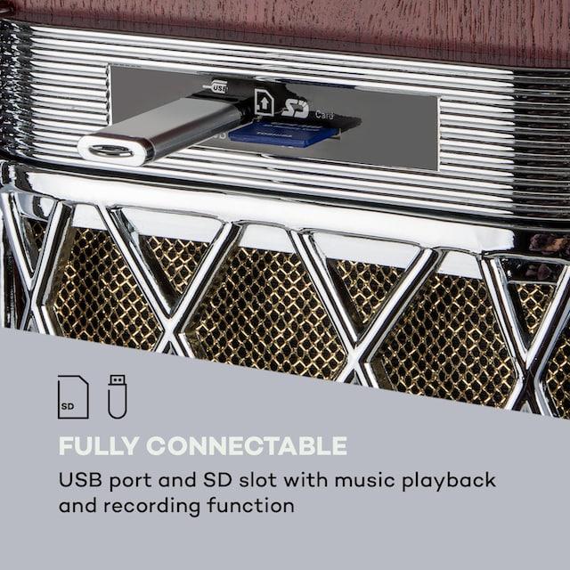 Auna DAB Jukebox BT CD Vinyl DAB+/UKW USB SD AUX-IN »Graceland All«