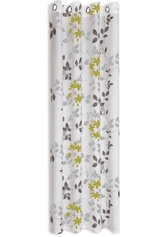 Gerster Vorhang »Bina«, HxB: 235x140, Ösenschal mit Ausbrenner Blumendesign kaufen