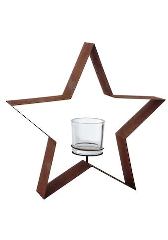 dio Only for You. Kerzenhalter »Stern«, in Rostoptik kaufen