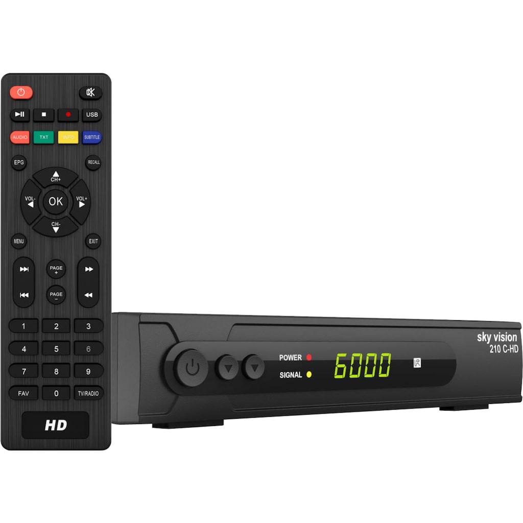 Sky Vision Kabel-Receiver »210 C-HD HDTV«, (Kindersicherung-EPG (elektronische Programmzeitschrift)-USB-Mediaplayer)