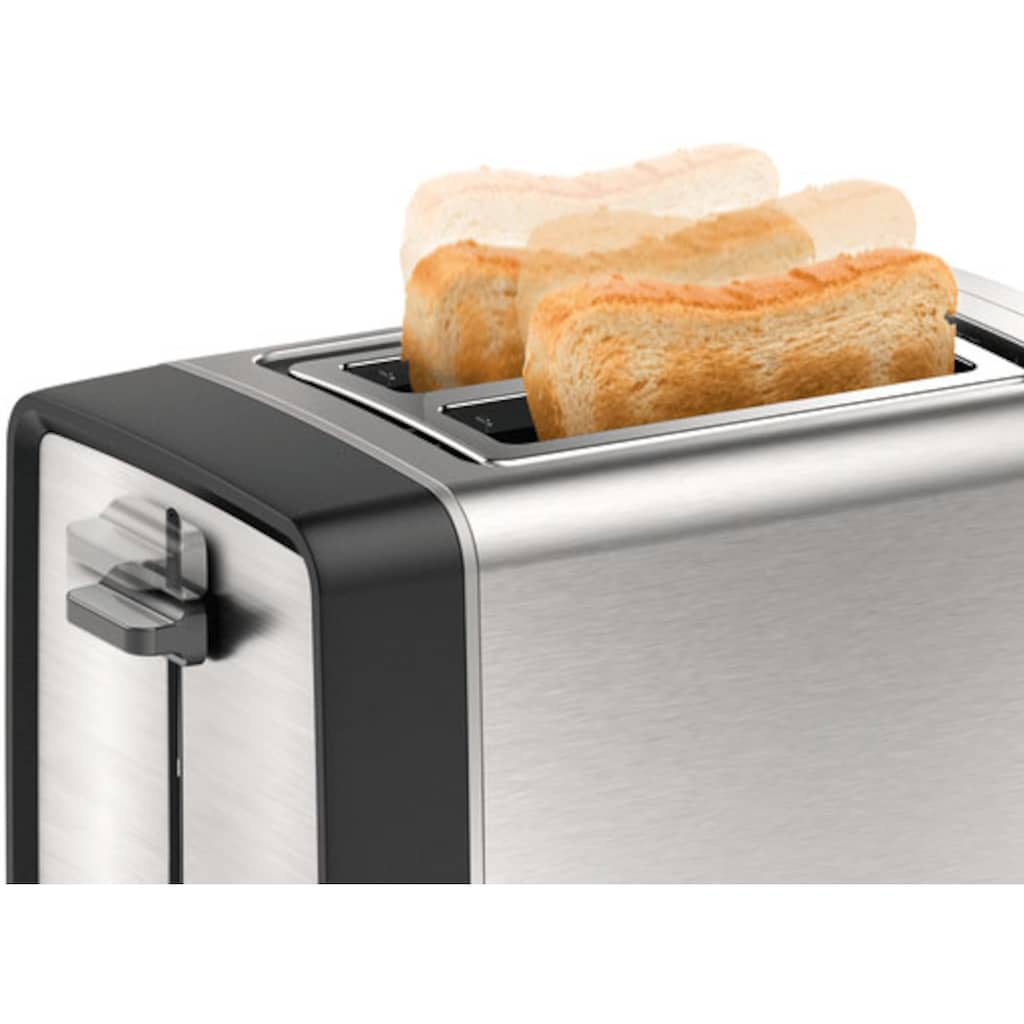 BOSCH Toaster »TAT5P420DE DesignLine«, 2 kurze Schlitze, 970 W