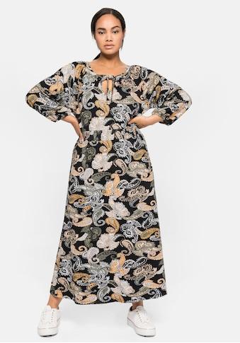 Sheego Jerseykleid, in Midilänge, mit Paisleydruck kaufen