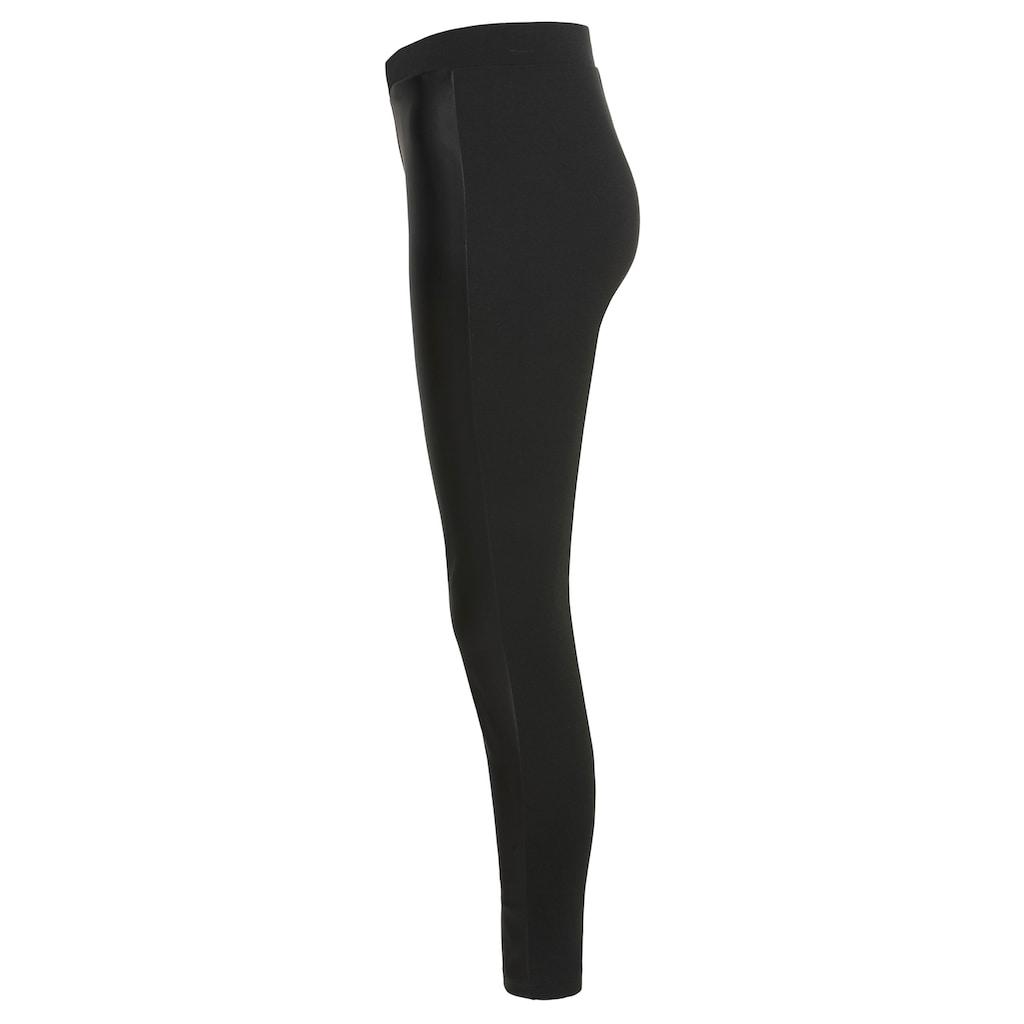 KangaROOS Leggings, mit leichter Lederoptik