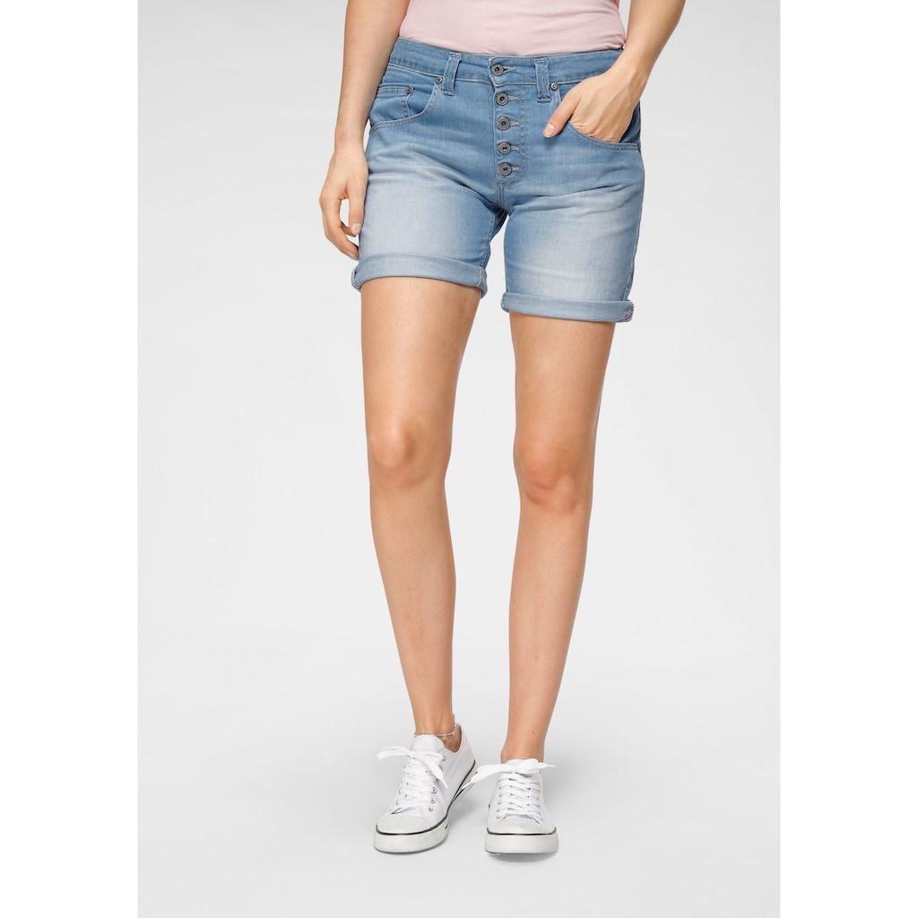 Please Jeans Jeansbermudas »P88A«, mit sichtbarer Button-Fly Leiste vorn