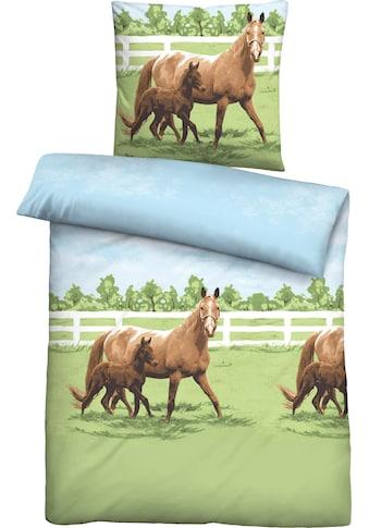 Biberna Jugendbettwäsche »Femke«, mit Pferden kaufen