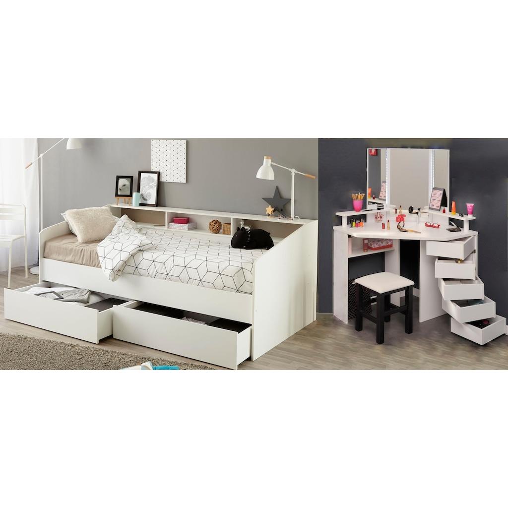Parisot Jugendzimmer-Set »Sleep«, (Set, 3 St.), Stauraumbett, Schminktisch und Hocker