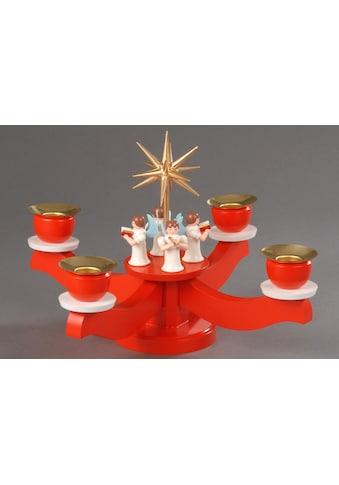 Albin Preissler Adventsleuchter, mit 4 stehenden Engeln kaufen