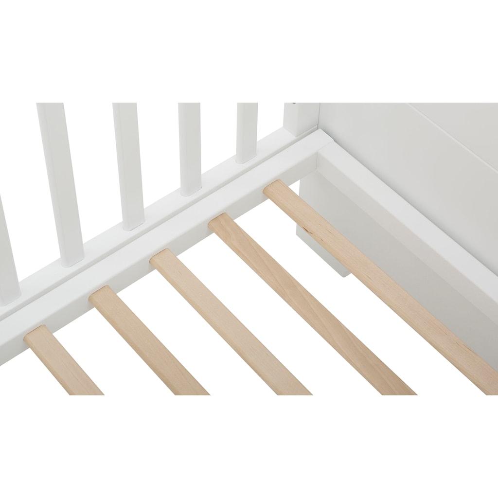 Lüttenhütt Baby Babyzimmer-Komplettset »Lauris, weiß/eiche«, (Set, 3 tlg.), FSC®-Holz aus gewissenhaft bewirtschafteten Wäldern