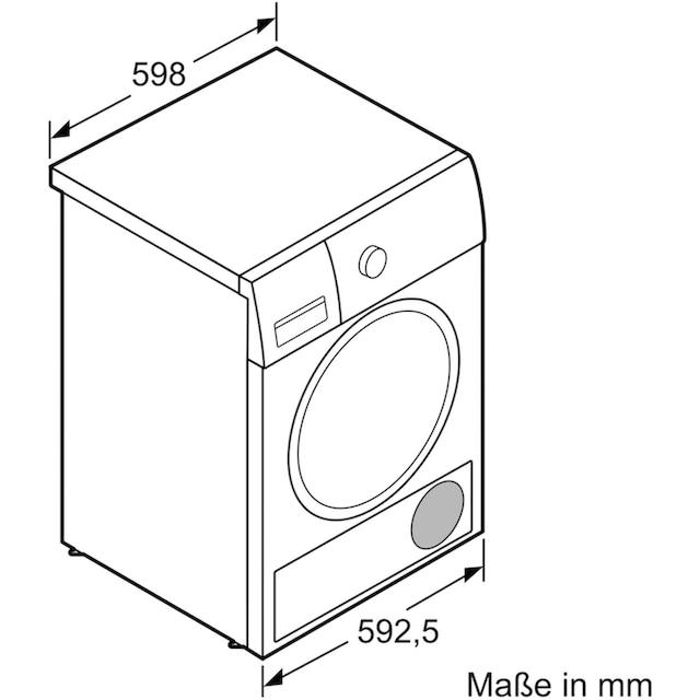 BOSCH Kondenstrockner WTG86402, 9 kg