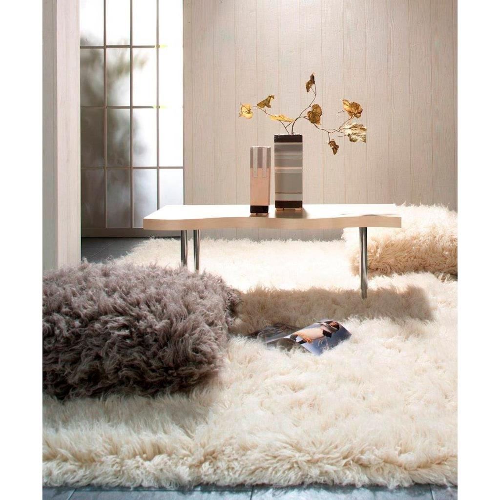 Theko Exklusiv Wollteppich »Flokos 1«, rechteckig, 40 mm Höhe, Hochflor, reine Wolle, handgewebt