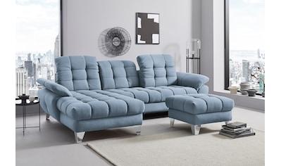 Places of Style Ecksofa »Bardi«, mit Sitztiefenverstellung, wahlweise auch mit... kaufen