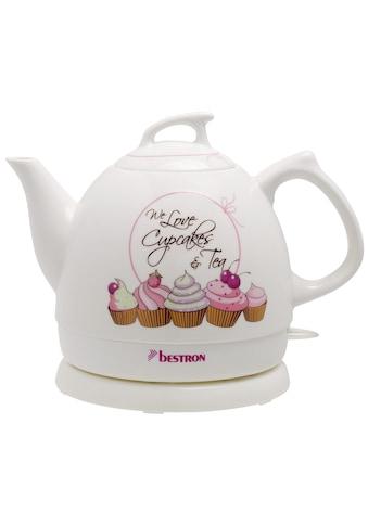 bestron Wasserkocher »Sweet Dreams«, 0,8 l, 1800 W, im Retro Design, Keramik, Weiß kaufen