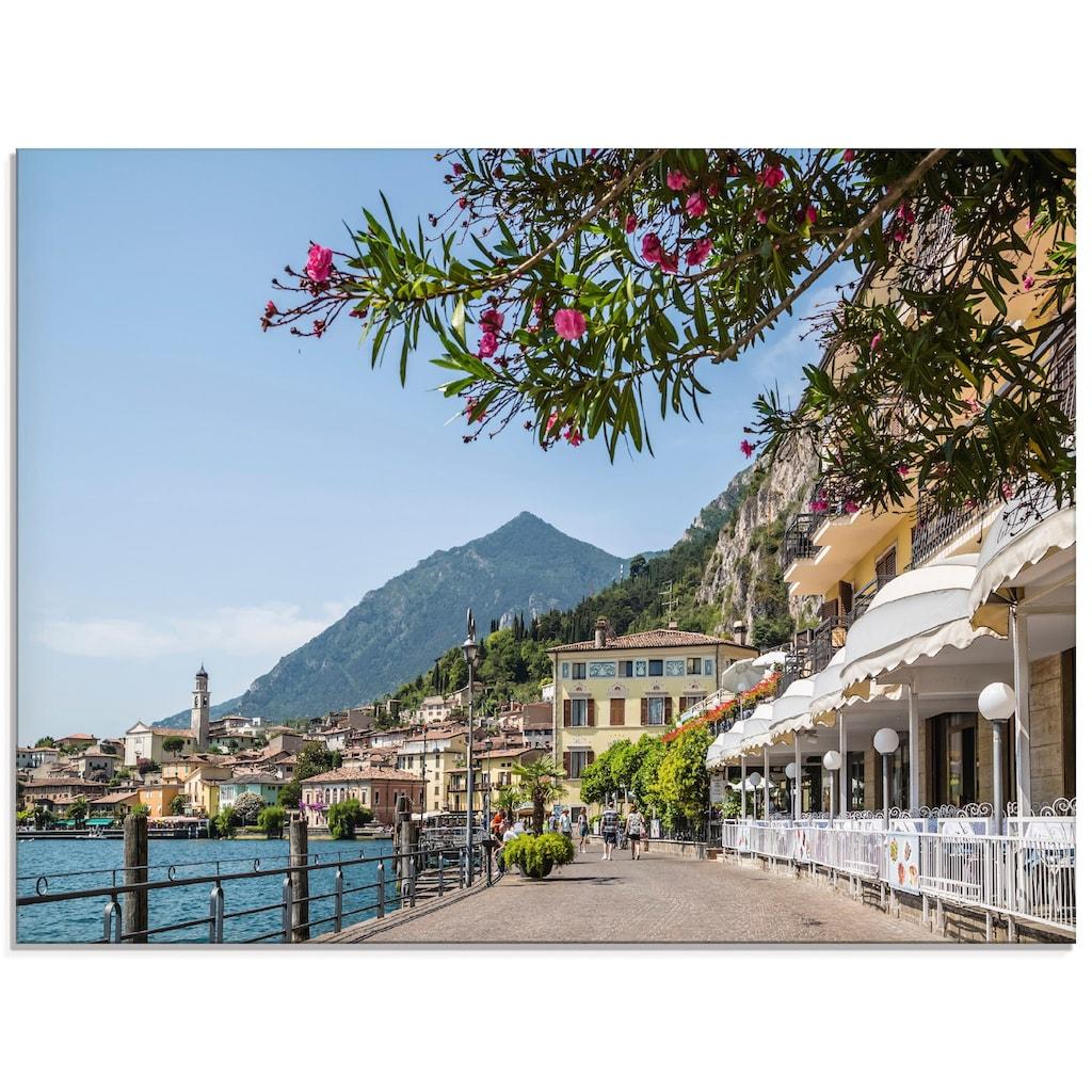 Artland Glasbild »Gardasee Limone sul Garda«, Europa, (1 St.)
