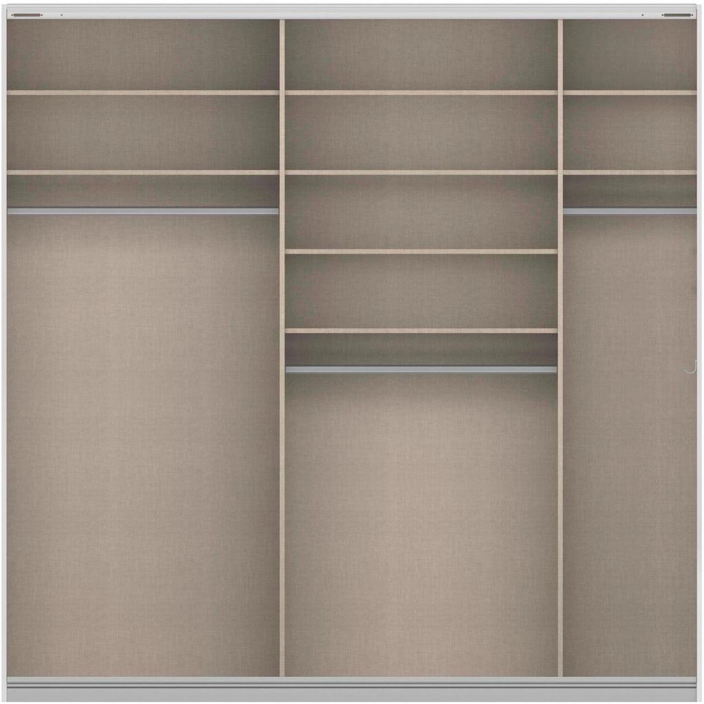 rauch ORANGE Schwebetürenschrank »Quadra«, inkl. Hakenleiste und zusätzlichen Einlegeböden