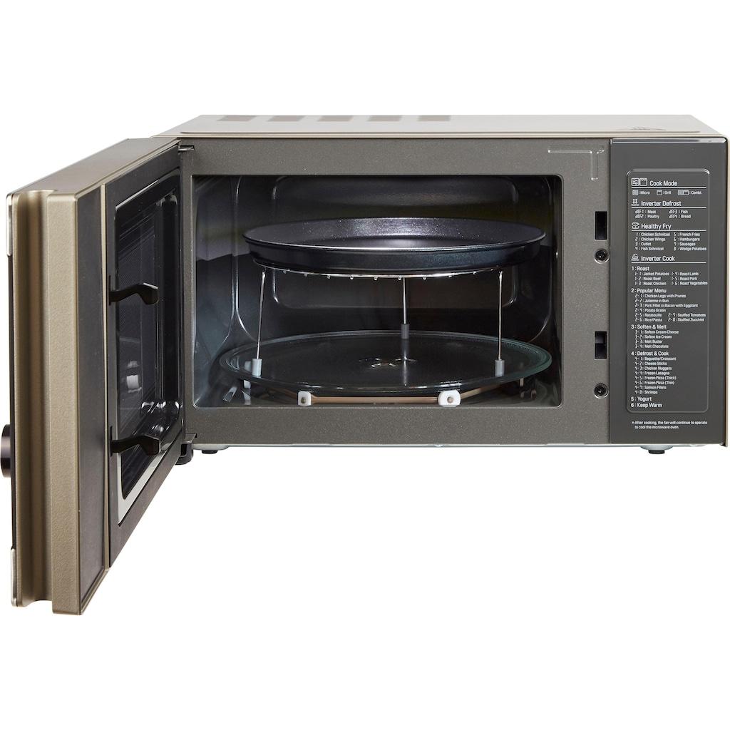 LG Mikrowelle »MH 6565 CPS«, Grill, 1000 W, Smart Inverter Technologie, echte Glasfront