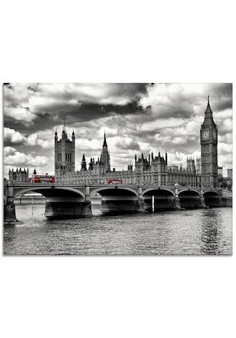 Artland Glasbild »Houses of Parliament & Rote Busse«, Gebäude, (1 St.) kaufen