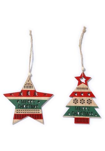 CHRISTMAS GOODS by Inge Dekohänger »MERRRY CHRISTMAS« (Set, 6 Stück) kaufen