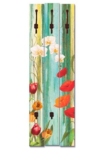 Artland Garderobenpaneel »Bunte Blumen« kaufen
