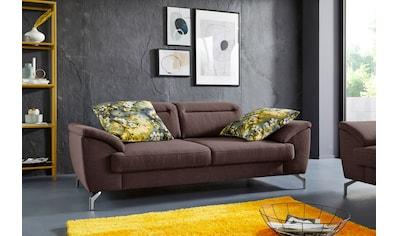 sit&more 2,5-Sitzer, 15 cm Fußhöhe, inklusive Sitztiefenverstellung, wahlweise Kopfteilverstellung, wahlweise in 2 unterschiedlichen Fußfarben kaufen